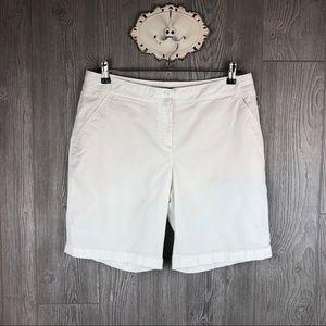 Tommy Bahama Women's White Bermuda Shorts Size 10